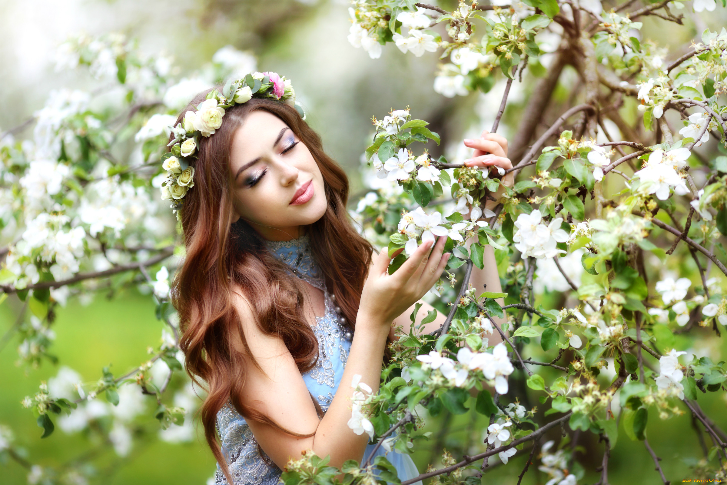 Картинки девушка красива как весной цветы